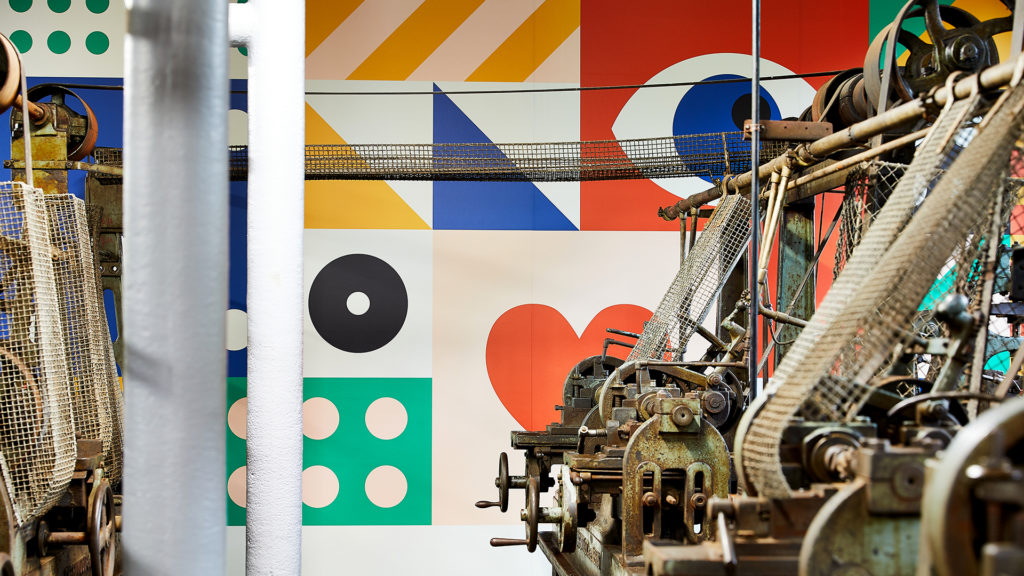 Power House Exhibition Branding, Wall Graphic Design and Machinery