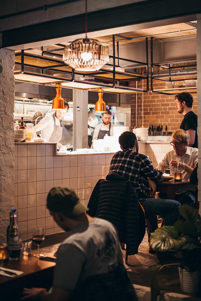 Ox Club Restaurant Interior, People Dining