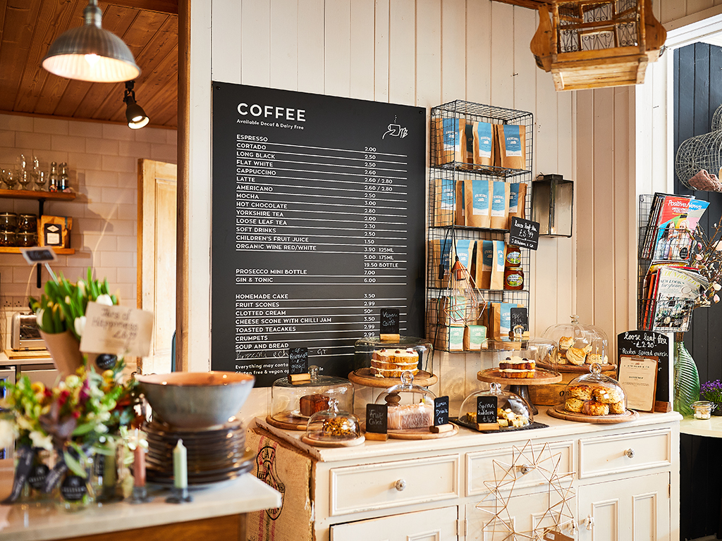 The Hedgerow Branding, Coffee Menu Board Design