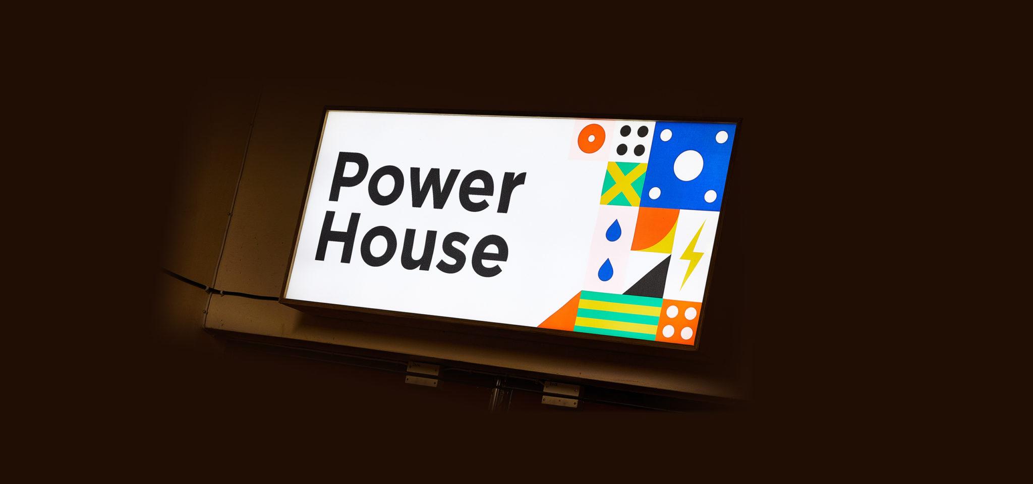 Power House Exhibition Branding, Interior Lightbox Signage