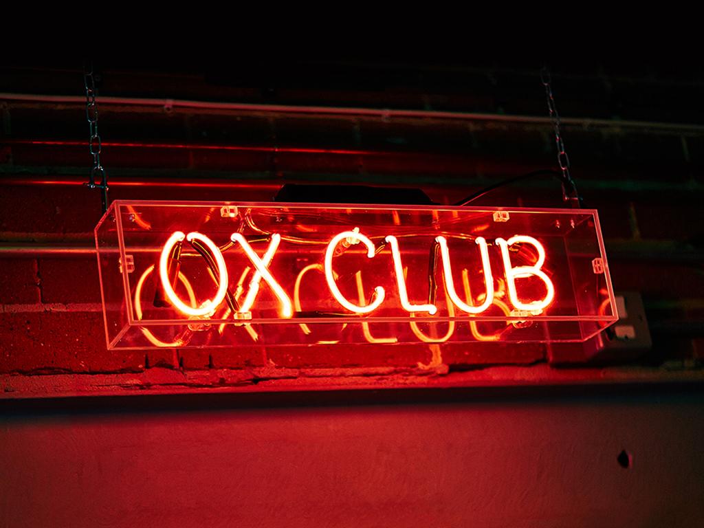 Ox Club Restaurant Branding, Neon Signage