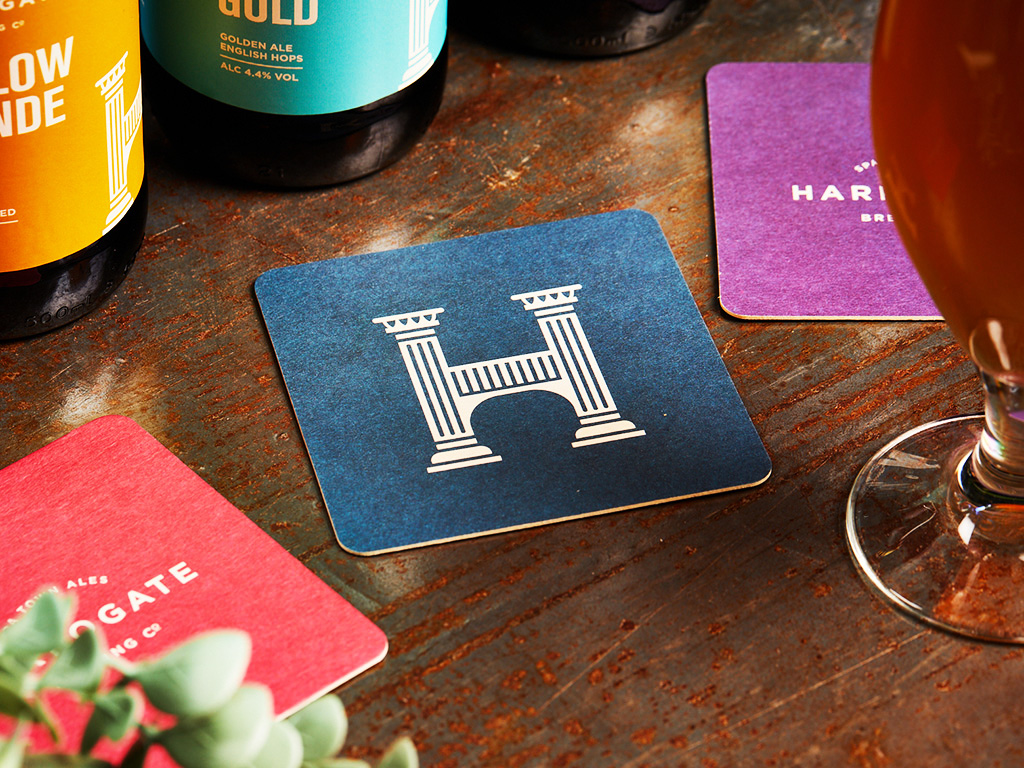 Harrogate Brewing Co. Branding, Beer Mat Design