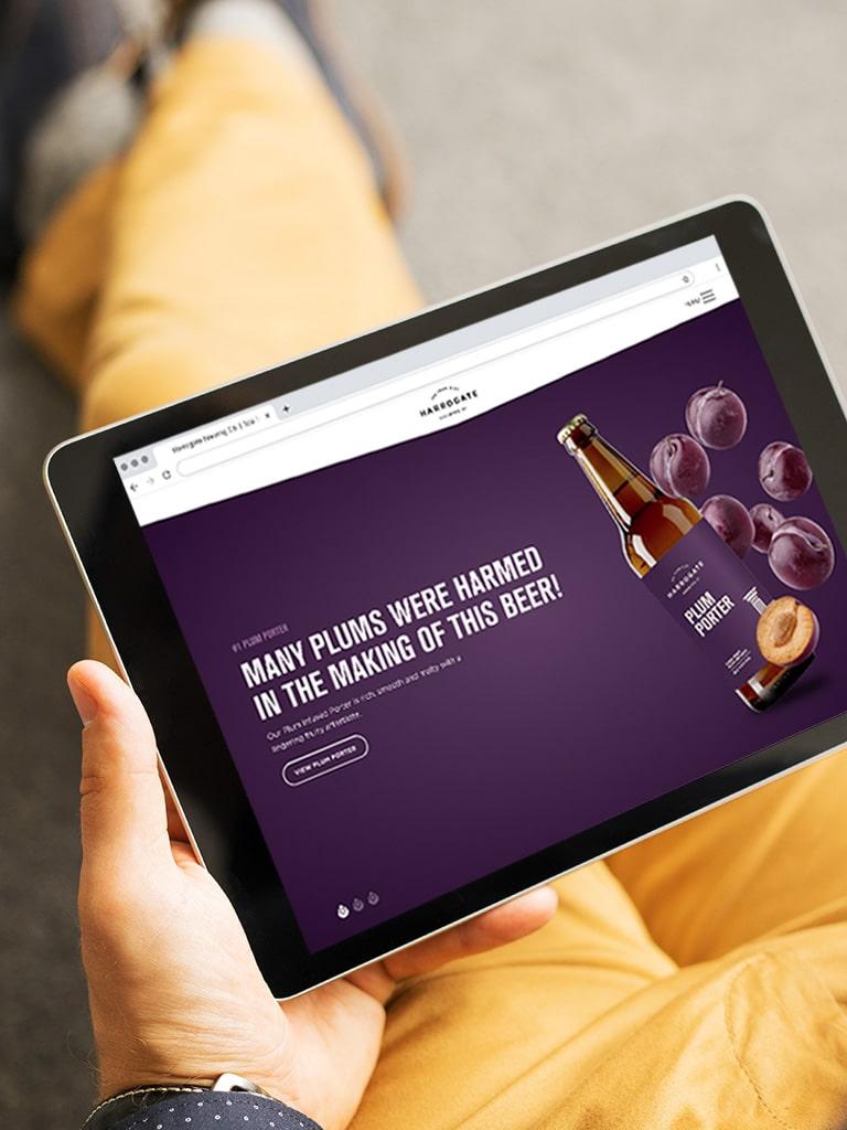 Harrogate Brewing Co. Branding, Website, iPad