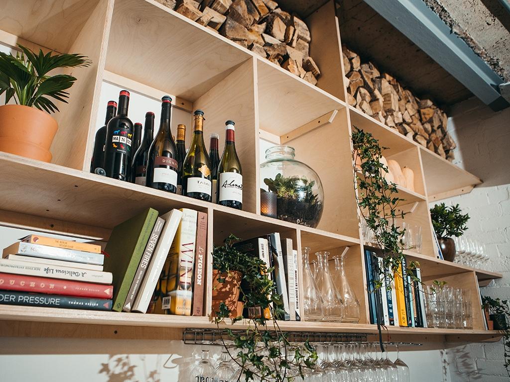 Ox Club Restaurant, Interior Shelves