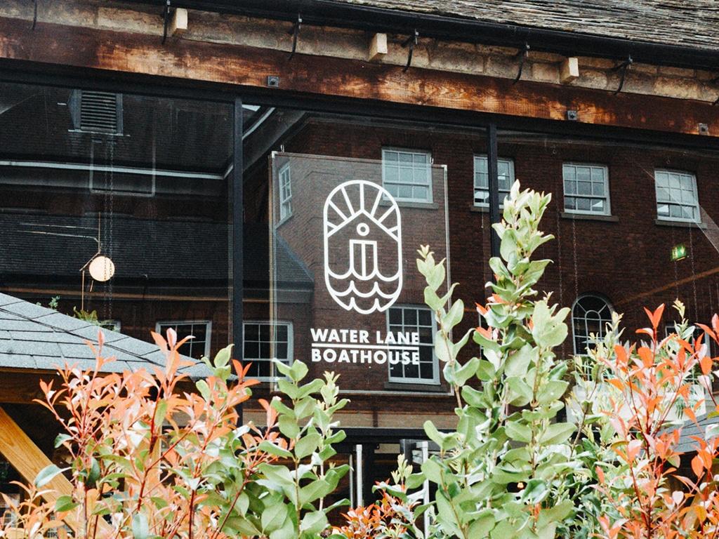 Water Lane Boathouse Branding, Exterior Signage
