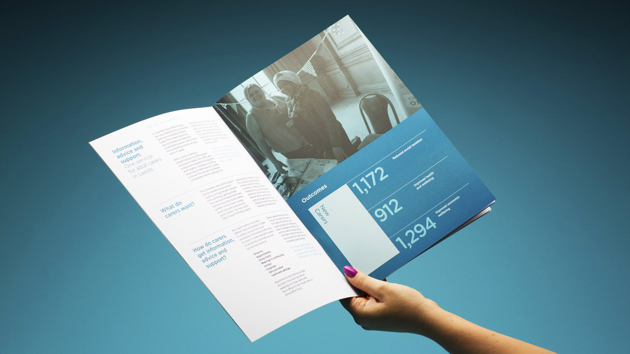 Carers Leeds, Annual Report Design and Print