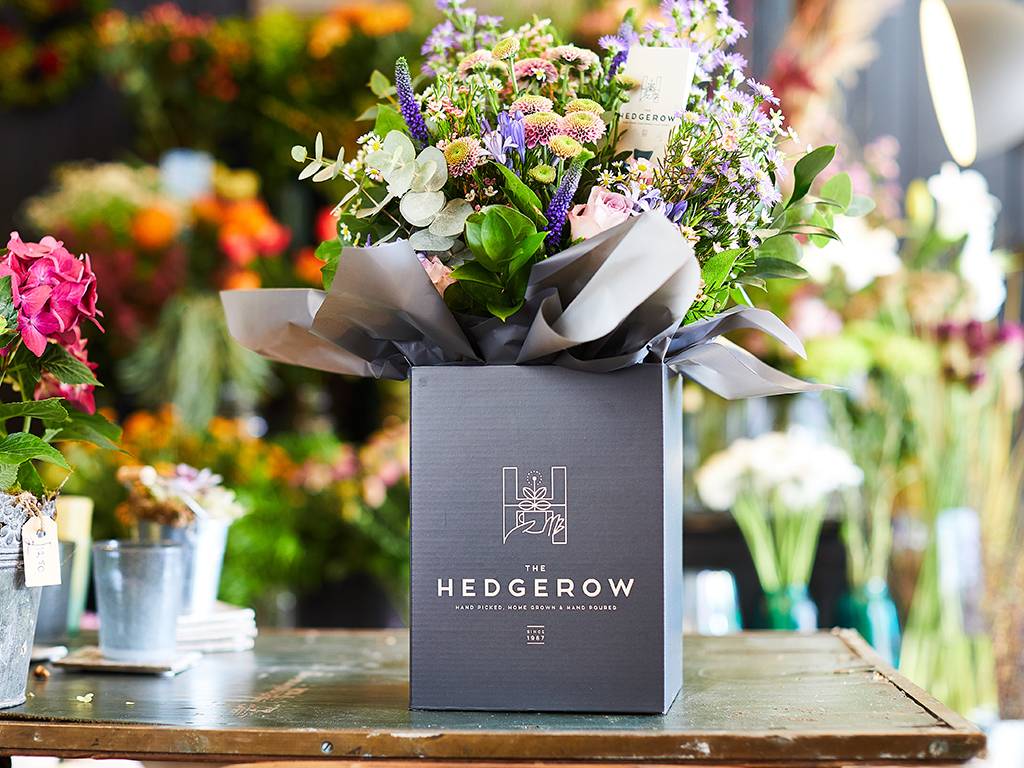 The Hedgerow Branding, Flower Packaging Design