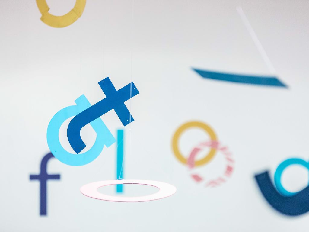 Float Festival Branding, Hanging Letters