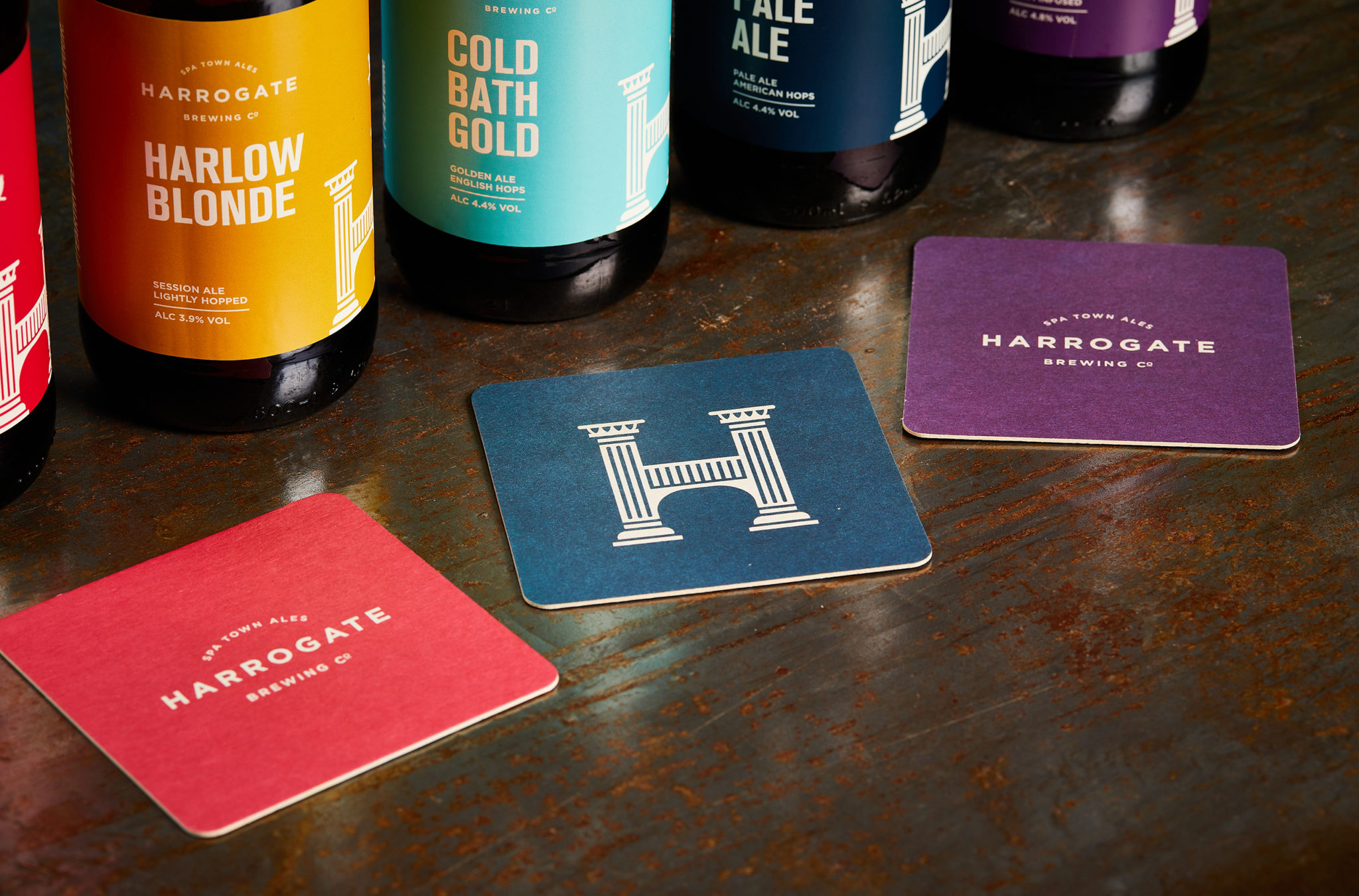 Harrogate Brewing Co. Branding, Beer Mats