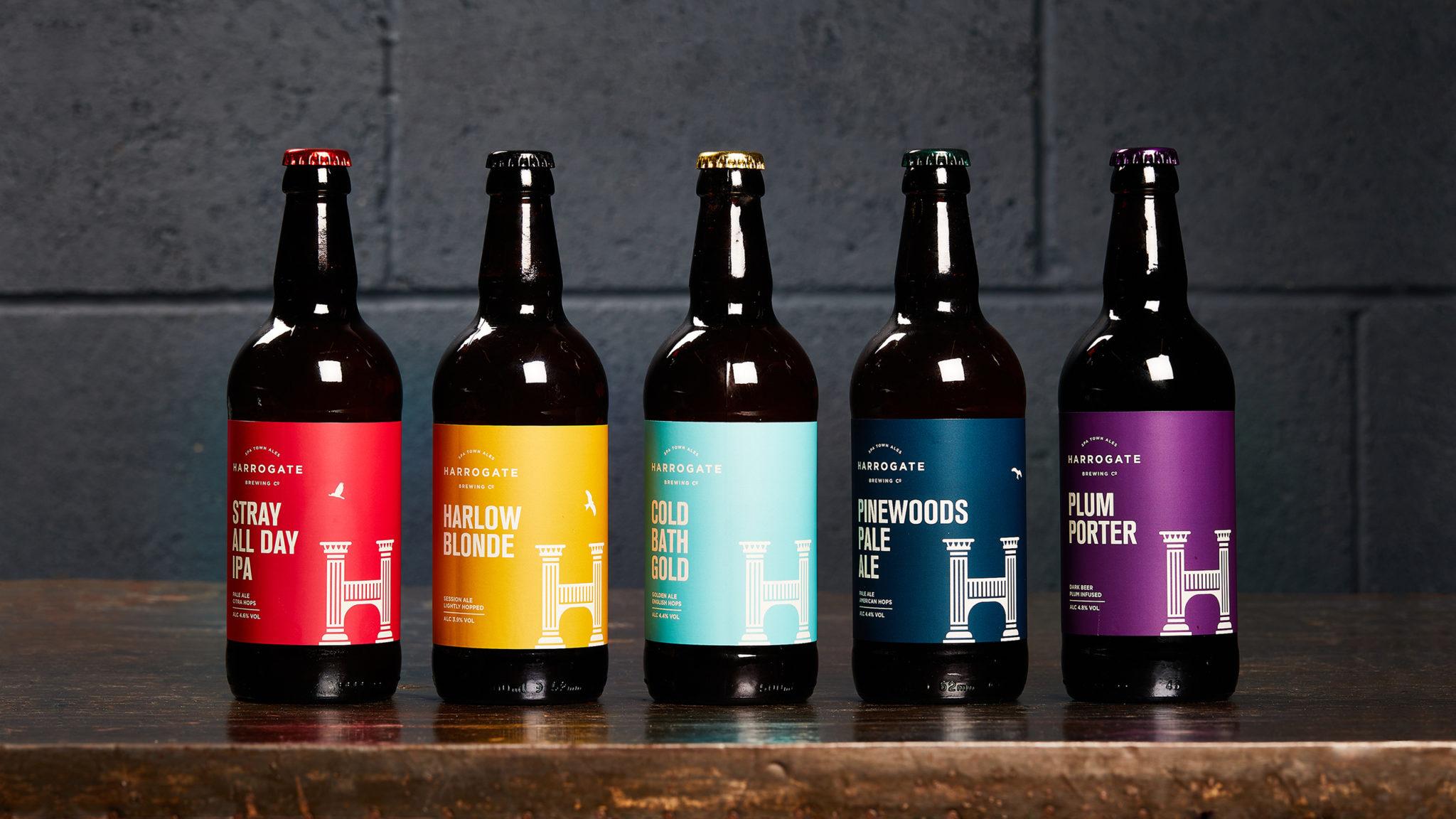 Harrogate Brewing Co. Branding, Beer Bottle Label Design