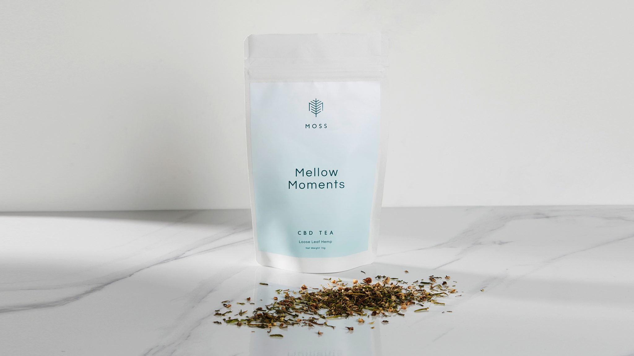 Moss Branding, CBD Tea Packaging